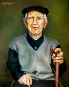 Grandpa Vojne – 50 x 40 cm – oil on canvas