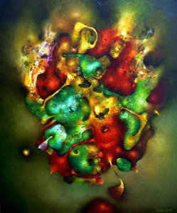 Untitled 01 – oil over acrylic on canvas