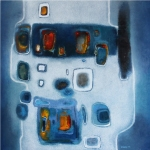 Blue 70 x 70 cm - Oil on canvas