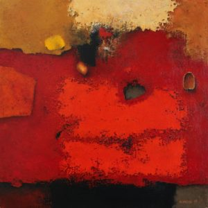 Red surface – Acrylic on canvas – 29 x 29 cm