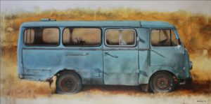Minibus TAM 75 A5 – 50 x 100 cm – Oil on canvas