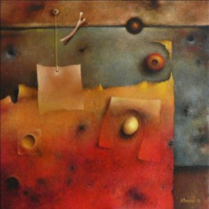 Magic Square – Oil on canvas – 40 x 40 cm