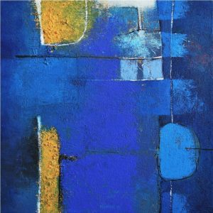 Blue – 35 x 35 cm – acrylic on canvas