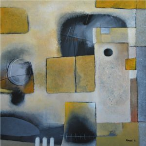Small Town – 50 x 50 cm – acrylic on canvas