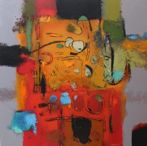 Untitled – Acrylic on canvas – 80 x 80 cm