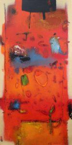 Untitled – Acrylic on canvas 100 x 50 cm