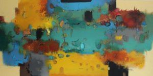 Untitled – Acrylic on canvas – 100 x 200 cm