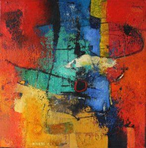 Untitled – Acrylic on canvas – 30 x 30 cm