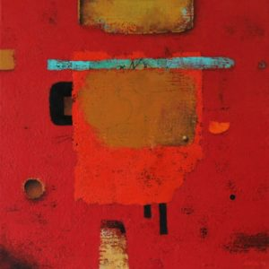 Red board Nº 6 – Acrylic on linen canvas – 45 x 45 cm