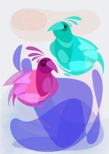 Egzoticni ptici boja mala
